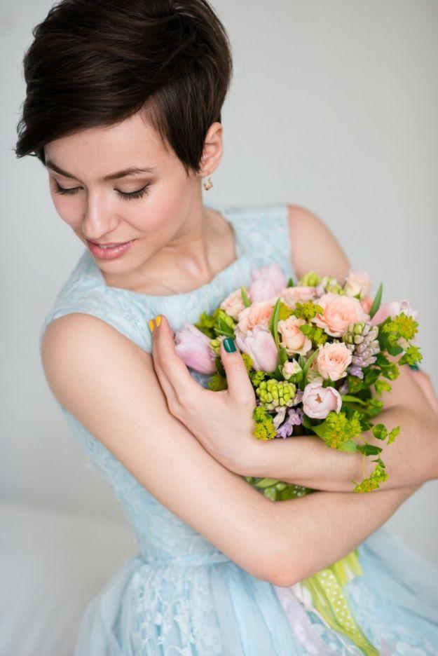 Свадебные прически на короткие волосы, сдержанный минимализм ::: onelady.ru ::: #hair #hairs #hairstyle #hairstyles