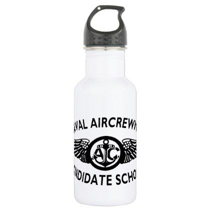 Naval Aircrew Candidate SPORTS BOTTLE. Old School! Stainless Steel Water Bottle - fun gifts funny diy customize personal