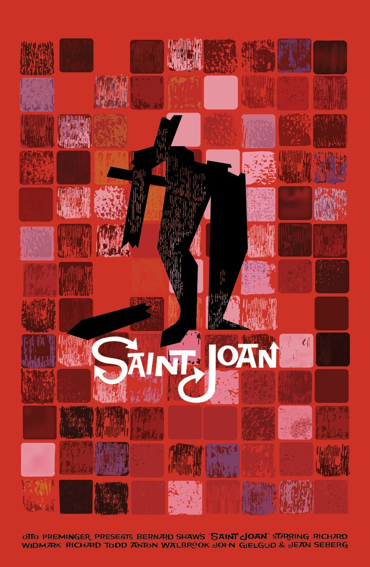 "Saul Bass' ""Saint Joan"" Poster replicated in Illustrator #artschool #graphicdesign"