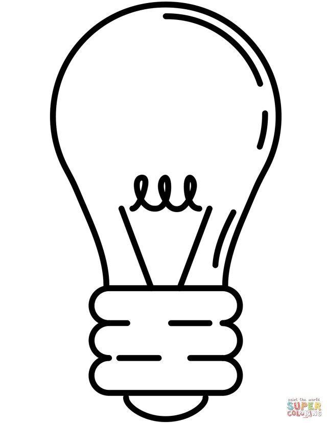 Excellent Image Of Light Bulb Coloring Page Entitlementtrap Com Light Bulb Printable Free Printable Coloring Pages Printable Coloring Pages