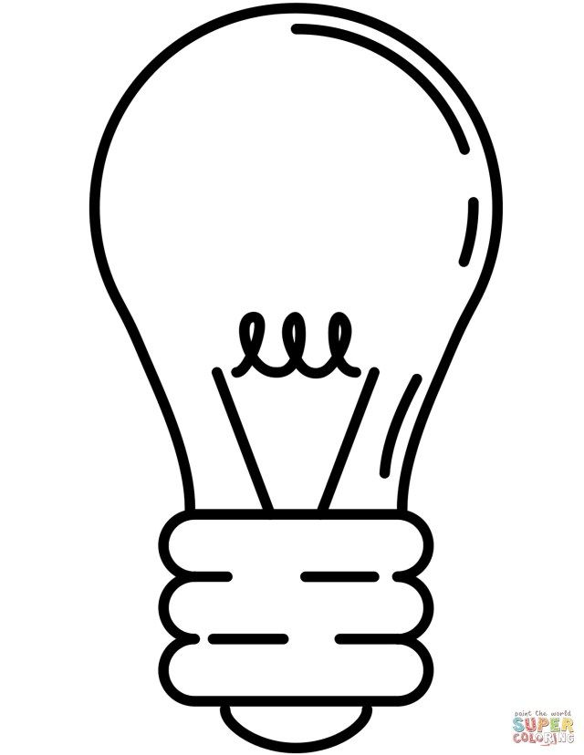 Excellent Image Of Light Bulb Coloring Page Light Bulb