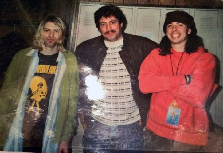 Kurt Cobain & Dave Grohl with some dude at Dayton, OH, US. 1993