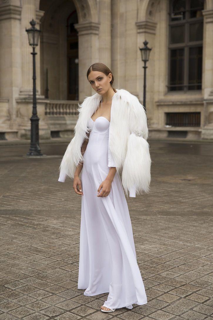Fur wedding dress  Myor brides Fall  wedding dresses  Bride  Pinterest  Chic