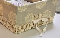 How to make a basket liner.