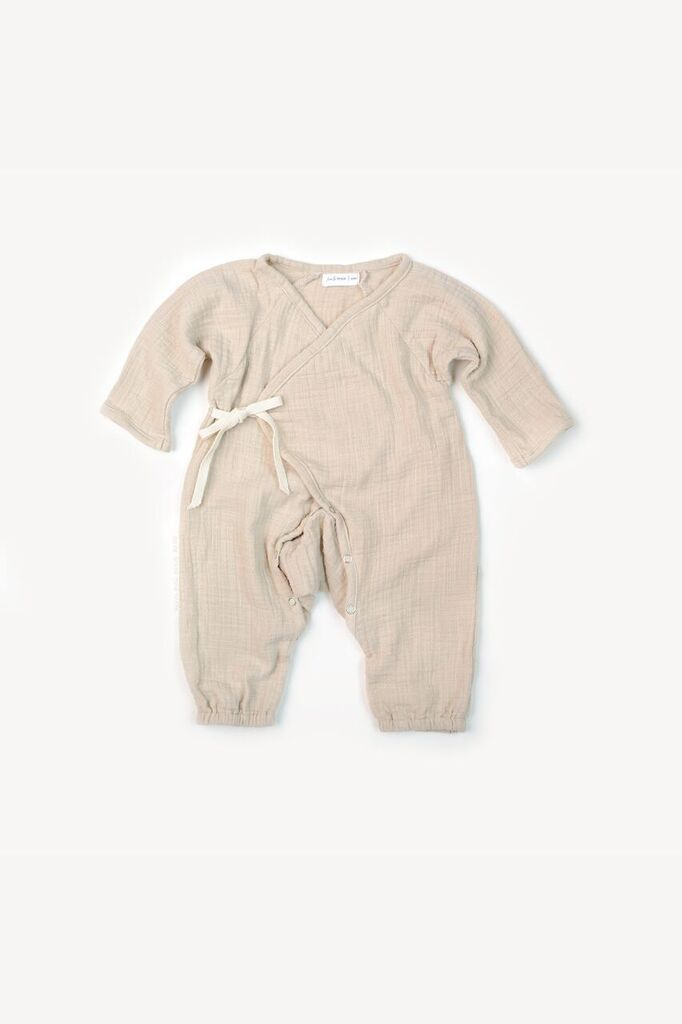 2b920ee2b8ad0 Kimono Romper in Fog | Products | Rompers, Kimono, Baby boy outfits