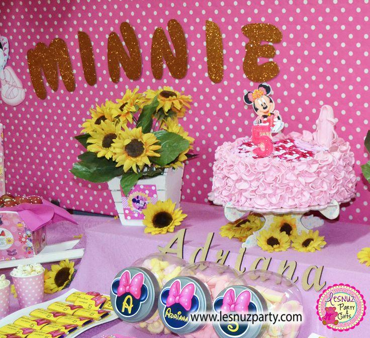 Cumpleaños Minnie Mouse tarta temática Lesnuzparty - Minnie Mouse birthday themed cake