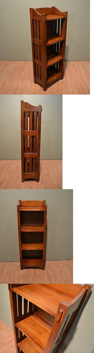 Bookcases 3199: Crafters And Weavers Mission Solid Oak Bookcase Or Magazine Stand -> BUY IT NOW ONLY: $415 on eBay!