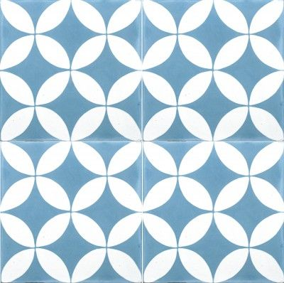 Pattern tiles for bathroom floor - Bespoke Tiles Richmond, Vic 30100 Circles Light Blue