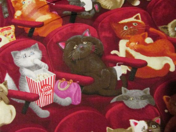Cats movies fabric Hey, I found this really awesome Etsy listing at https://www.etsy.com/listing/162808415/cats-movie-cats-at-movies-cats-burgandy