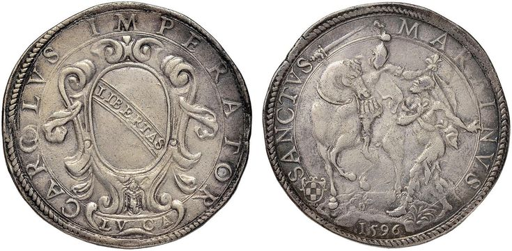NumisBids: Nomisma Spa Auction 50, Lot 111 : LUCCA Repubblica (1369-1799) Ducatone 1596 – Bellesia (Cinquecento)...