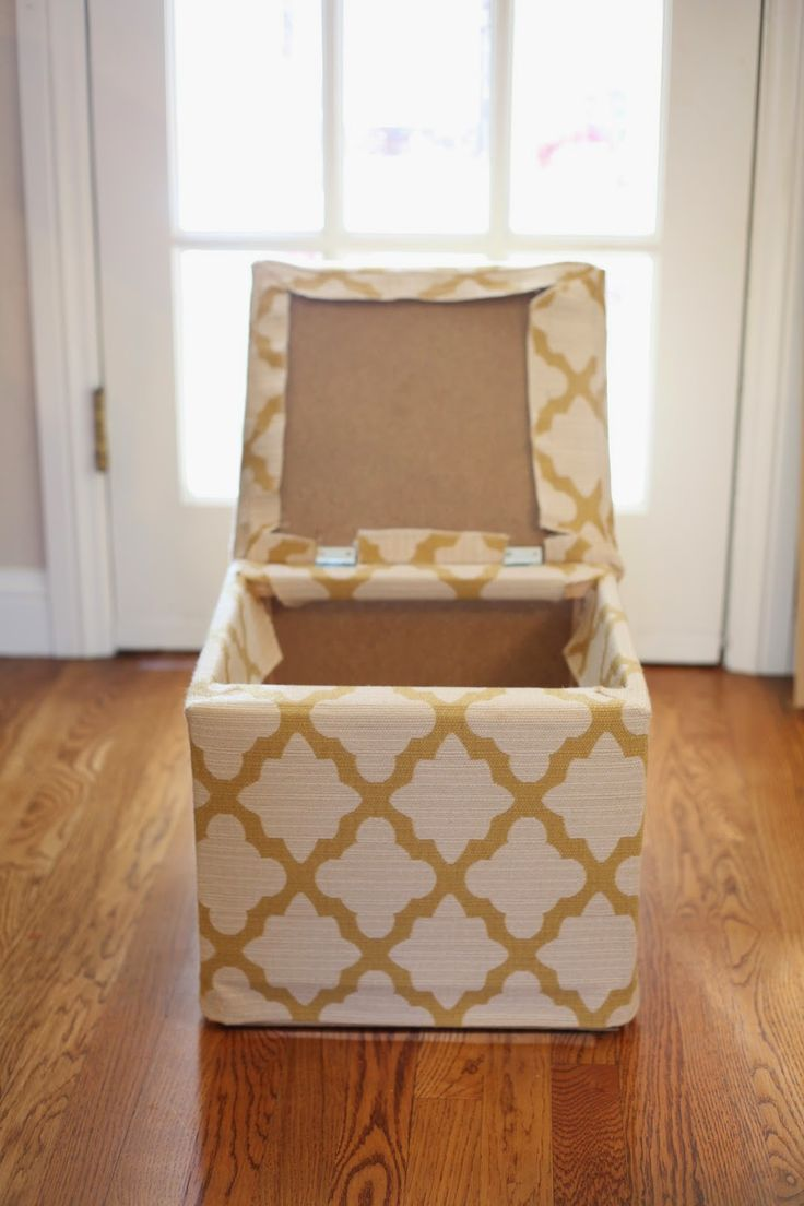 From Ikea Footstool to Custom Made Storage Ottoman! | Bombshell Bling