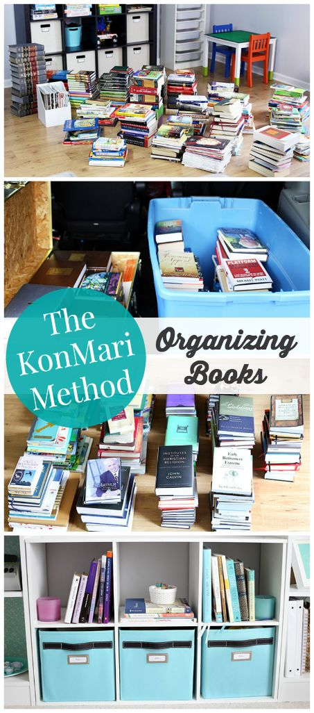 The KonMari Method: Organizing Books | JustAGirlAndHerBlog.com Love this website!