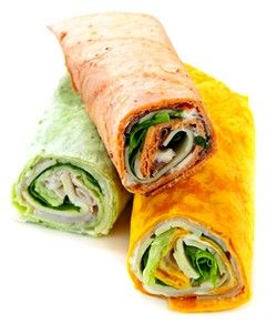 Finger Foods For Toddlers Tortilla Wraps (spread with cream cheese to hold