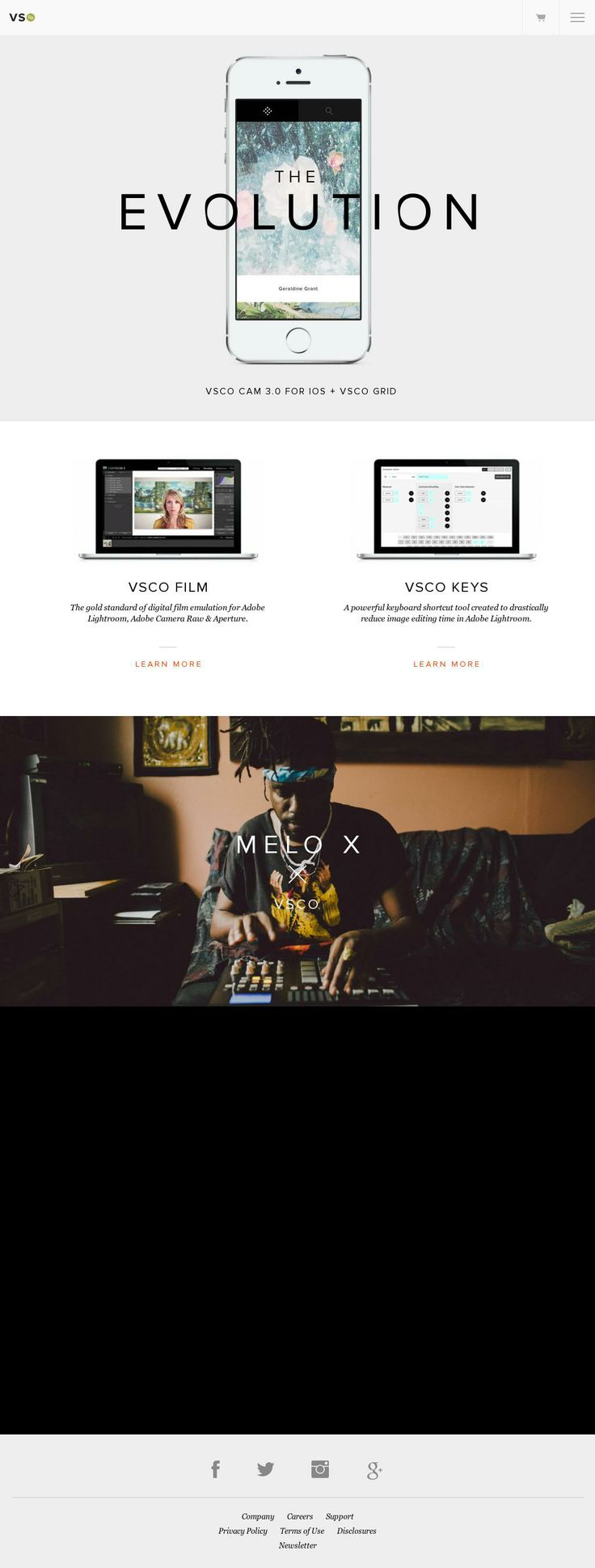 The website 'https://vsco.co/' courtesy of @Pinstamatic (http://pinstamatic.com)