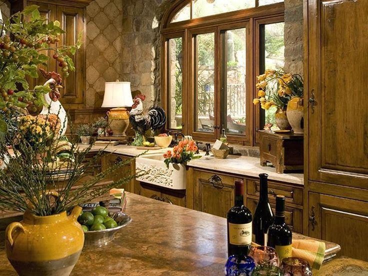 Old english style kitchen beautiful home design for Italian decorations for home