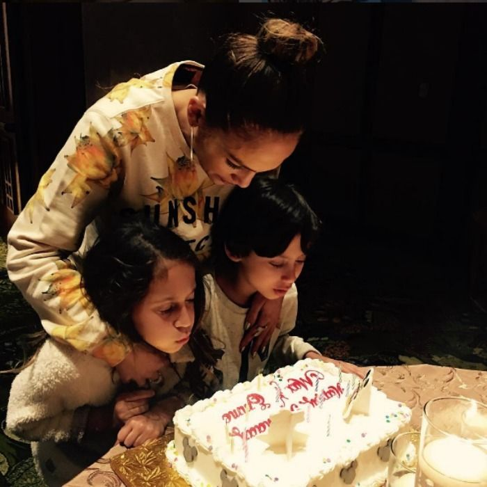 """Jennifer Lopez and Marc Anthony  Max and Emme   J Lo. welcomed her twin babies with her ex-husband Marc Anthony on February 22, 2008. On their eighth birthday, the All I Have singer took to her Instagram to shower them with love.   The star's message read: """"HAPPY BIRTHDAY TO THE LIGHTS OF MY LIFE. You have brought me nothing but joy and happiness since the very second you were born. I am so proud of who you are and the beautiful loving caring people you are growing into."""""""