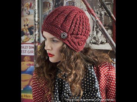 Шапочка-шлем из журнала Vogue Knitting. Часть 1 - YouTube