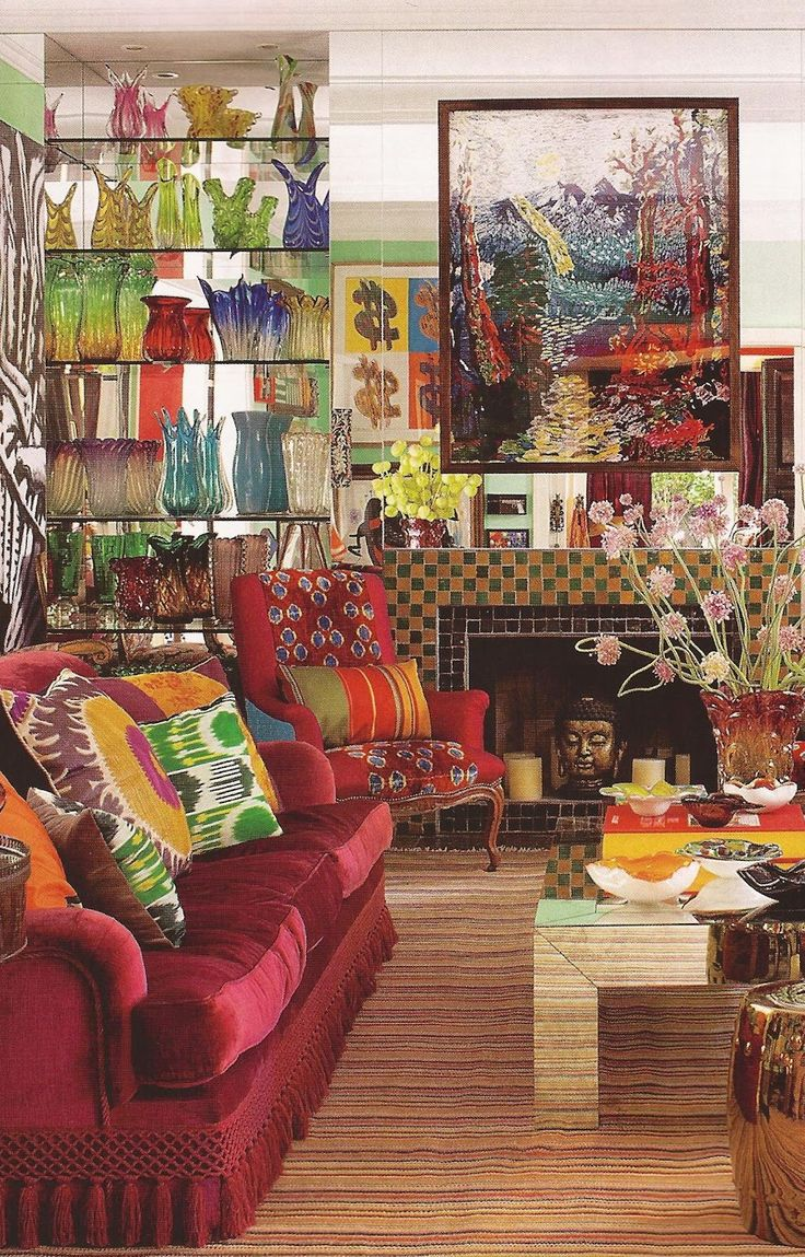 Sig bergamin interiors living with a lot of color