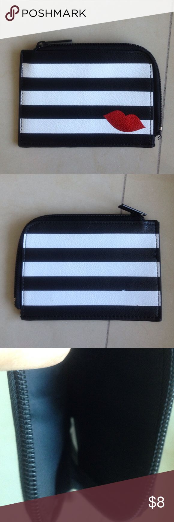 Lips Black and White Striped coin case by Sephora Black and white stripes lips coin case by Sephora - New! Sephora Accessories Key & Card Holders