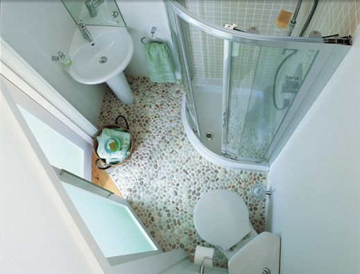 Not so much the style (!) but the shape / layout makes a practical shower room / ensuite with minimum loss of bedroom space