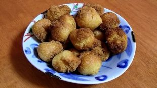 Japanese okinawan sweet fritters with bean paste