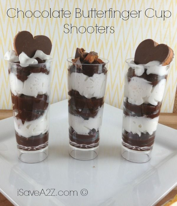 Chocolate Butterfinger Cup Shooters- EASY Recipe! Great
