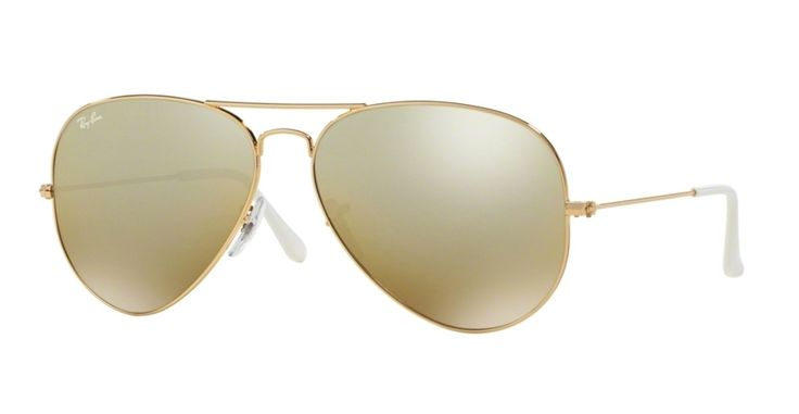 Ray-Ban RB3025-001/3K Gold Large Metal Aviator Sunglasses