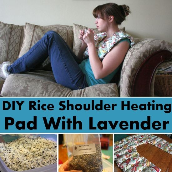 Amazing DIY Rice Shoulder Heating Pad With Lavender