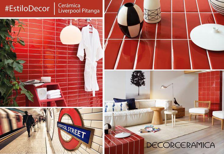 El glamour y elegancia de las ciudades inglesas ha sido plasmado en esta cerámica pared, cuyo diseño se inspiró en los muros de las estaciones de metro Londres.   Algo más que quieres saber... Ingresa a http://bit.ly/1OKkXdf #decorceramica #innovacion #estilodecor