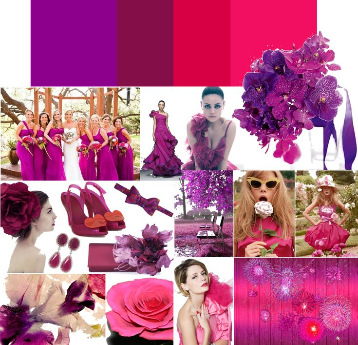 Eggplant And Red And Purple Wedding Ideas