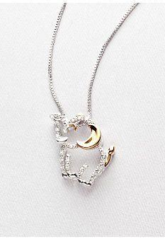 7962 best l1nny images on pinterest elephants elephant stuff and diamond elephant pendant in sterling silver with 14k gold belk aloadofball Choice Image