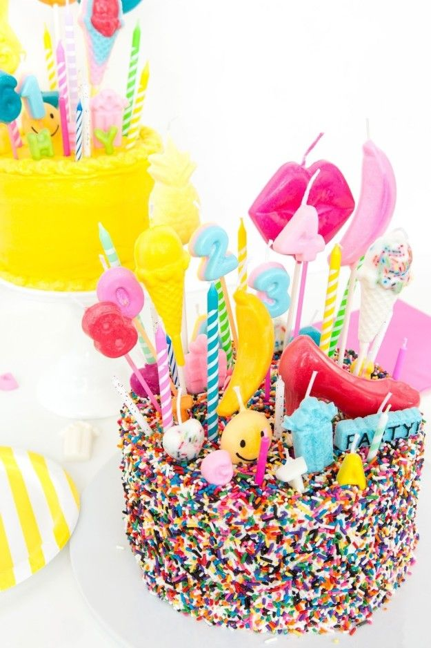 Combine crayons and candle wax in cheap chocolate molds to make custom birthday cake candles.