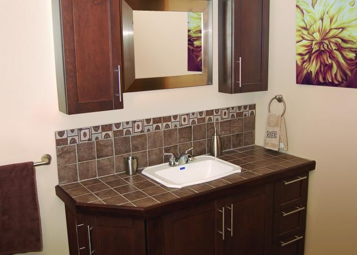 Salle de Bain - Madison - Chocolat - Vanités salle de bain | EBSU