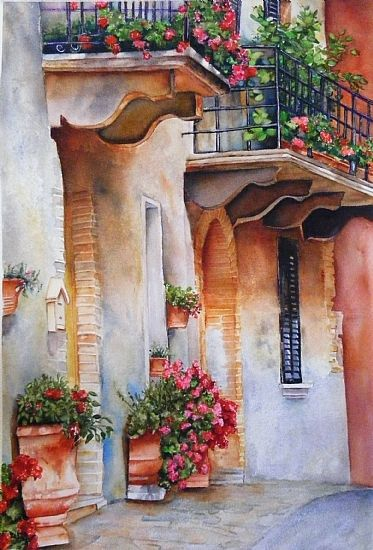 Lori Pitten Jenkins - Work Zoom: Italian Corridor, Castelmusio, Italy Would go with the existing one I have in basement.