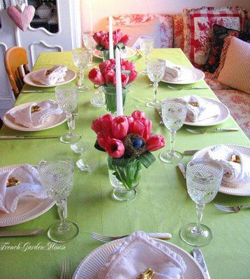 easter table decor - Google Search