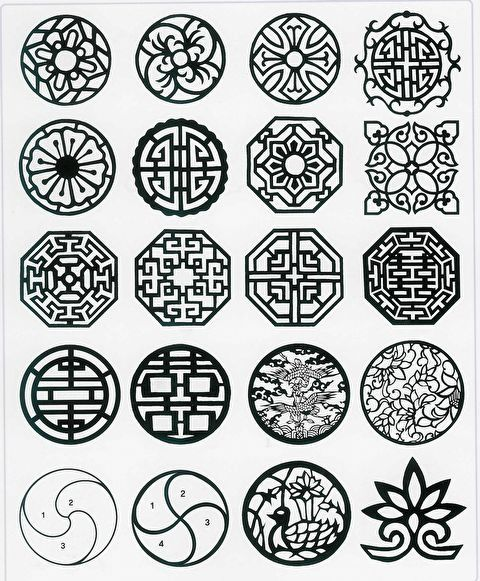 traditional korean geometrical patterns                                                                                                                                                                                 More