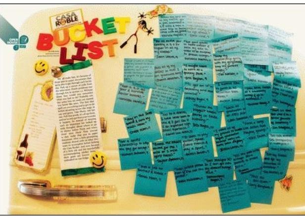 Yearbook idea...bucket list!