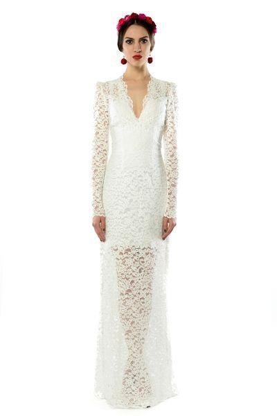 Iris - koronkowa  suknia ślubna/wieczorowa