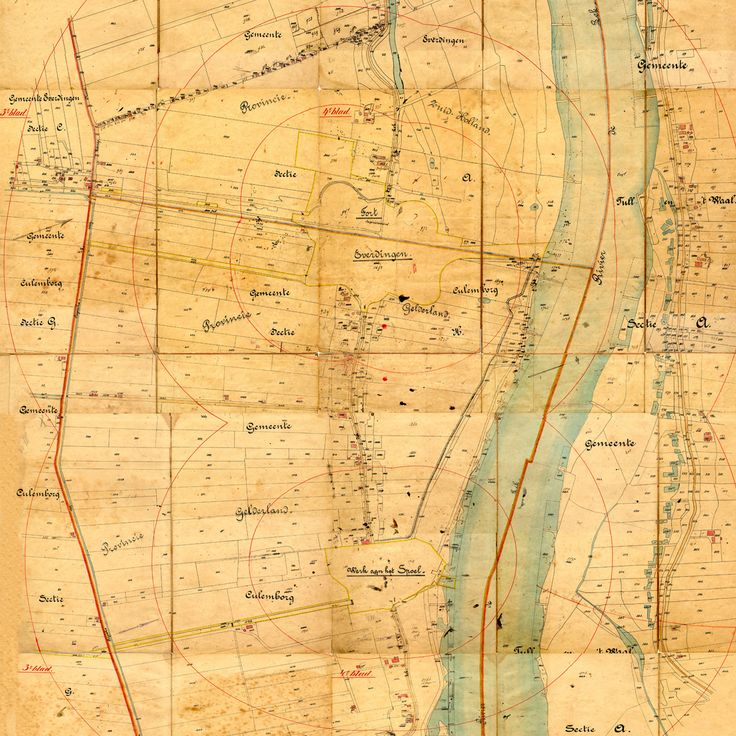 Nieuwe Hollandse Waterlinie, kaart Verboden Kringen