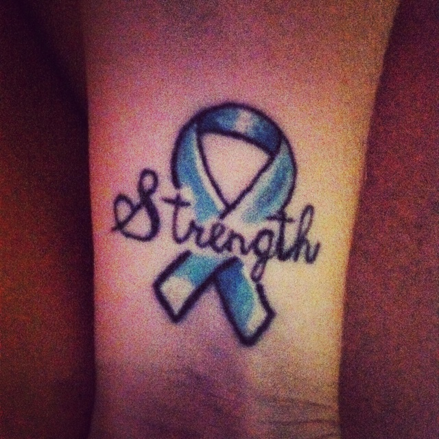 My cervical cancer ribbon tattoo! | Tattoo | Pinterest