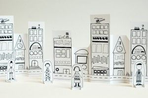 printable paper city (and lots of other drawings to print).