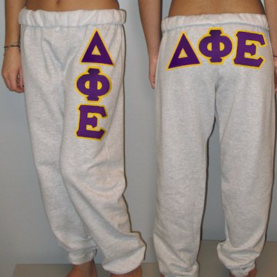 Delta Phi Epsilon Sorority Sweatpants $24.99 - Miss mine, might have to order a new pair