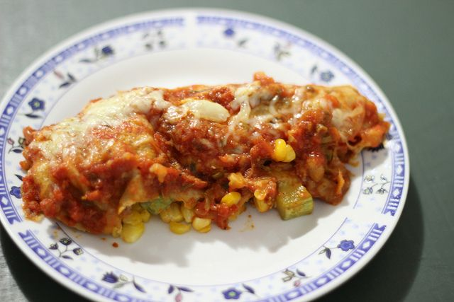 Veggie enchilada! #veggie #vegetables #enchilada #texmex #vegetarian #vegetarianfood