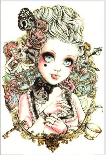 Body Art Beauty Makeup Rosy Dangerous Sexy Cute Girl Doll Tattoo 10D Waterproof Temporary Tattoo Stickers