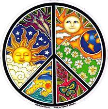 Dan Morris Sol, Lua E Temporadas Símbolo Da Paz-Arte De Janela Decalque / adesivo