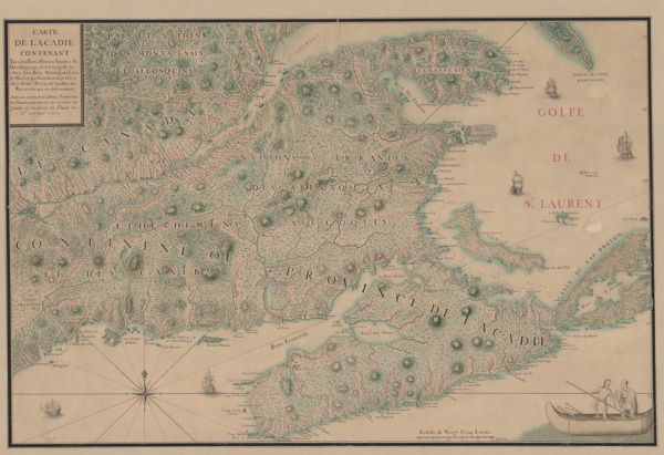 Carte De L'Acadie Contenant by Jean-Baptiste-Louis Franquelin (1702). #cdnhistory #cartography