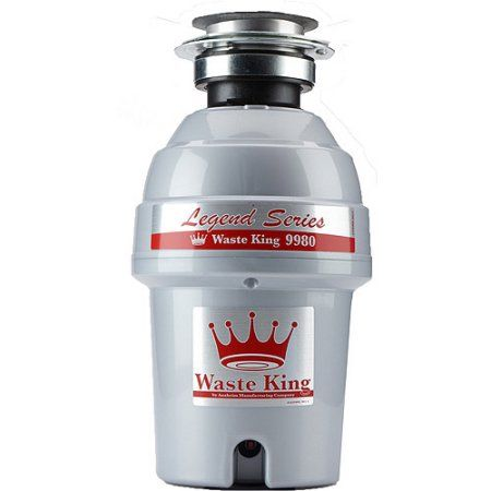 Waste King 9980 Legend Series 1 HP Professional 3-Bolt Mount Garbage Disposer, Beige