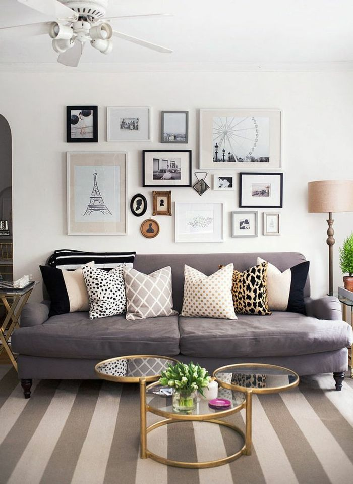 Die besten 25+ Graue sofas Ideen auf Pinterest Graue wände - wohnzimmer grau silber