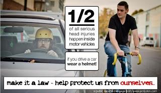 """""""No estamos en contra del casco sino que luchamos contra los argumentos que aseguran que pedalear es más peligroso de lo que realmente es y que el casco ofrece una súper protección más allá de la que realmente da"""""""