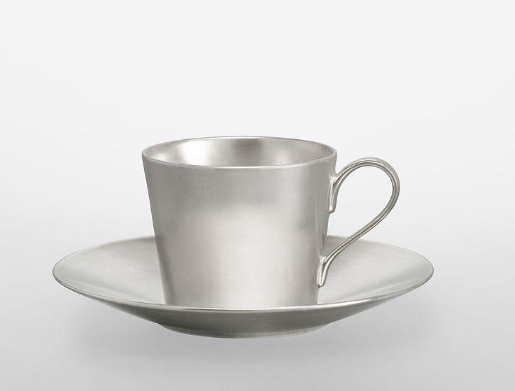 Calvin Klein Shirotae Porcelain Cup and Saucer